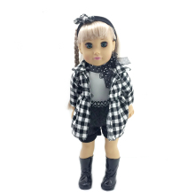 17 inch lovely girl baby doll toy with movable eyes