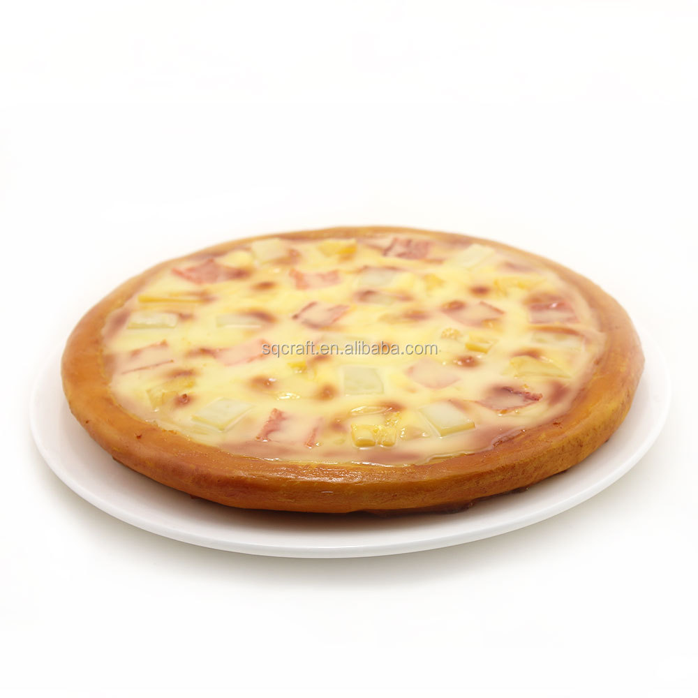 Fake Pizza Prop Artificial Faux Display Food Model Hawaii Pizza