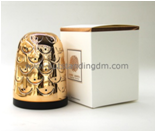 High Quality Soft Candle Making Wax In Luxury Rose Gold Candle Holder