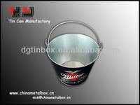 metal tin buckets pails with handle for promotion