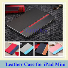 5 Colors Custom Flip Stand Leather Case Cover Tablet Etui Coque for iPad Mini