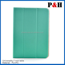 High Quality Tri-fold 7 Inch tablet case cover ,Universal PU Leather Case Cover Stand