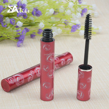 Shiny high quality aluminum empty metal soft mascara tubes with brushes