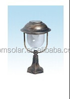 6 LED Solar Post Light Solar fence lamp Solar post lantern with PIR motion sensor