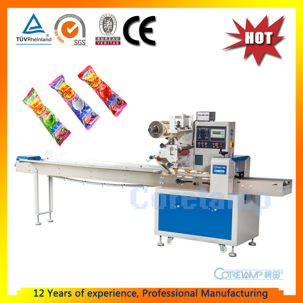 Horizontal Automatic Flow Lollipop Wrapping Machine