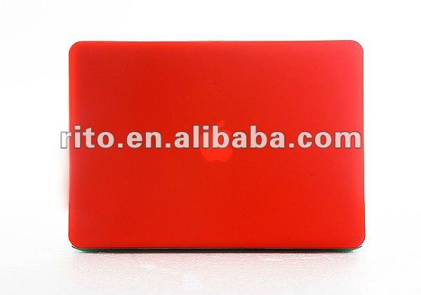 Hot Sales of Solid Red Color Rubberized Hard Case for Mac Air 11,Factory Price & High Quality