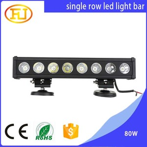 2018 80w single row Head Lamp 4x4 Offroad Wholesale Led Light Bars Off Road
