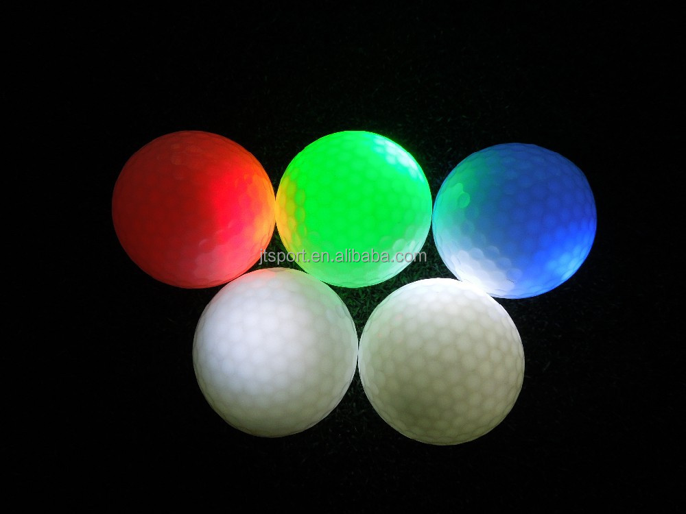 Glowing golfball in the dark when golf ball Activated