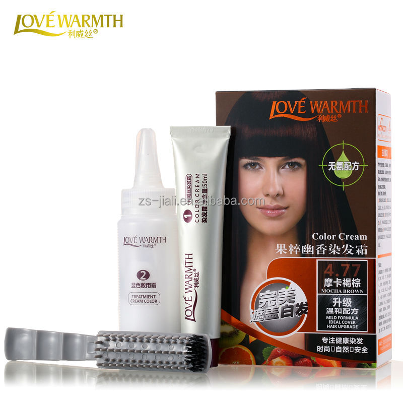 Lovewarmth Permanent Hair Dye Color Cream, Fashion Colors,Wholesale for Supermarket