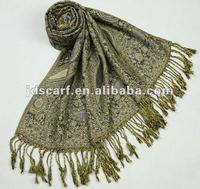 Indian jacquard shawl women winter warm shawls lady winter wraps and shawls
