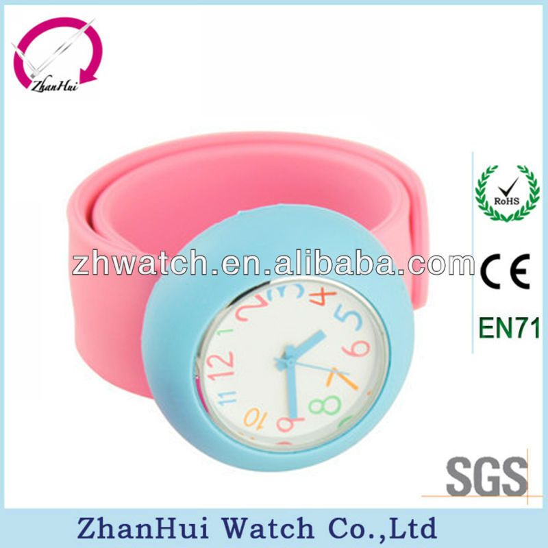 New colorful watches hot wholesale assorted colors silicone slap children watch cheap fancy pretty girl watches