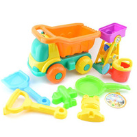 New arrival summer children play outdoor set plastic sand beach toys truck