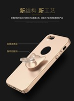 2016 new product ultra thin holder ring frosting crashproof hard plastic case for iphone 5 se