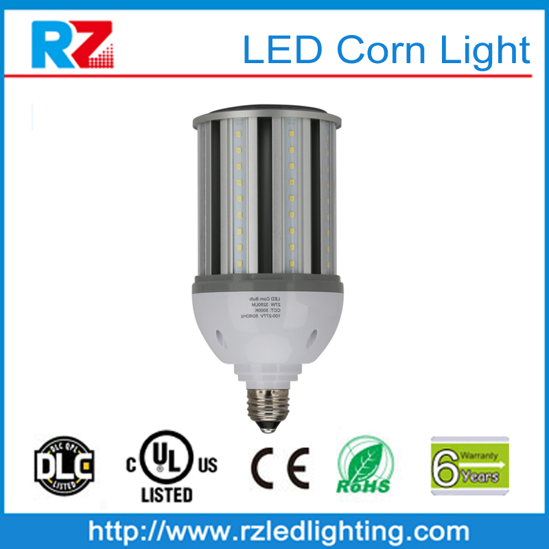 Lifetime 60000 hours dimmable 27w corn led lighting