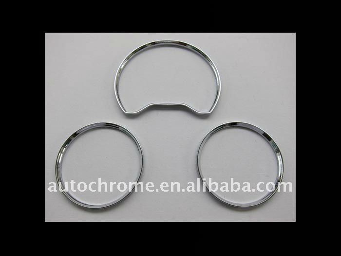Chrome Dash Board Gauge Ring Set for MercedesBenz W210 95-99