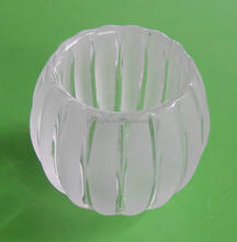 pressed glass lamp shade clear
