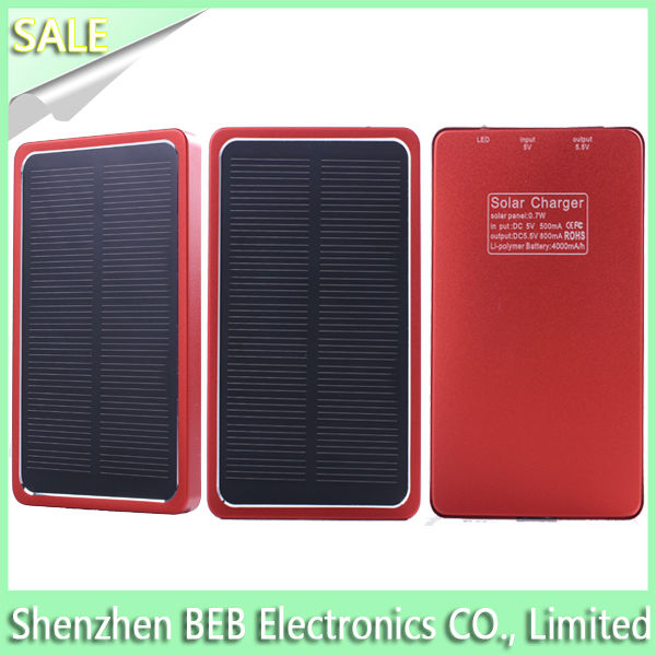 4000mah high quality solar mobile phone charger has low price