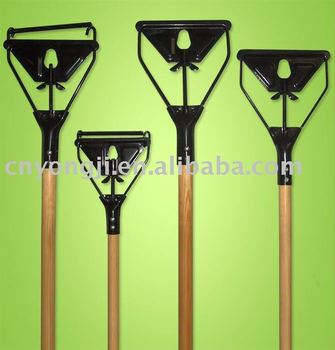 mop handle with iron clamp