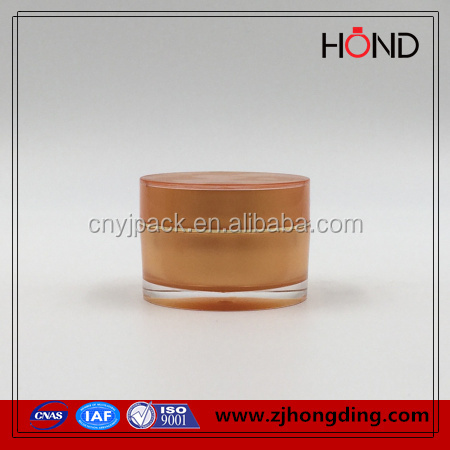 transparent small plastic jar 5g 10g 15g ;straight round acrylic plastic containers