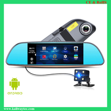 Kaliway Newest 3G Smart Rearview Mirror DVR 1080p full hd car black box with gps and wifi