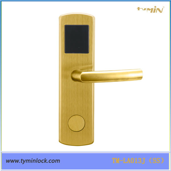 Smart Chip Hotel Interior Proximity RF Card Hotel Door Hnadle Lock