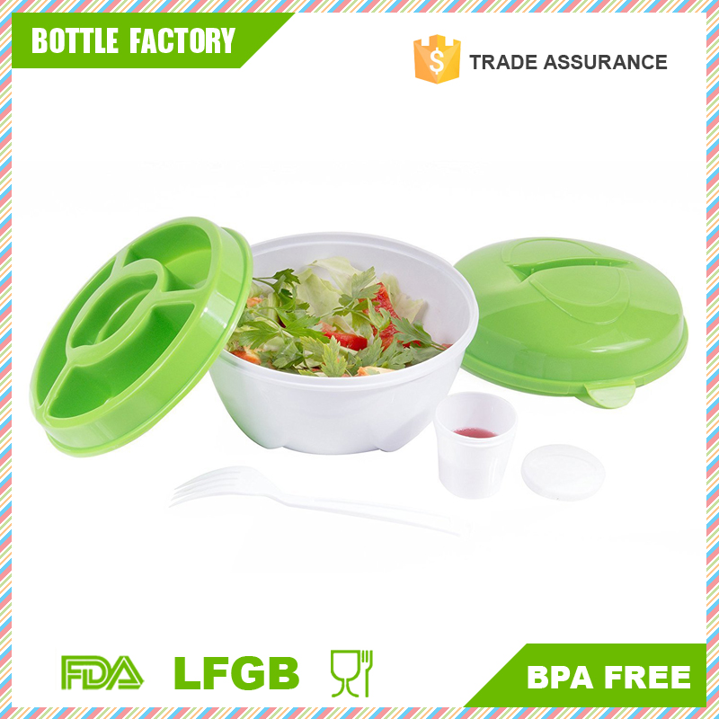 Easy Storage and Stay Fresh To Go Salad Bowl Plastic With Locking Lids