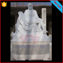 White marble pieta statues religious Jesus virgin mary sculptures