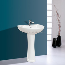 China traditional high quality blue and white Ceramic Bathroom Sanitary Ware Pedestal Basin OLT-022010