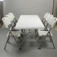 Dining Table And Chair With Metal