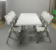 dining table and chair with metal folding table leg