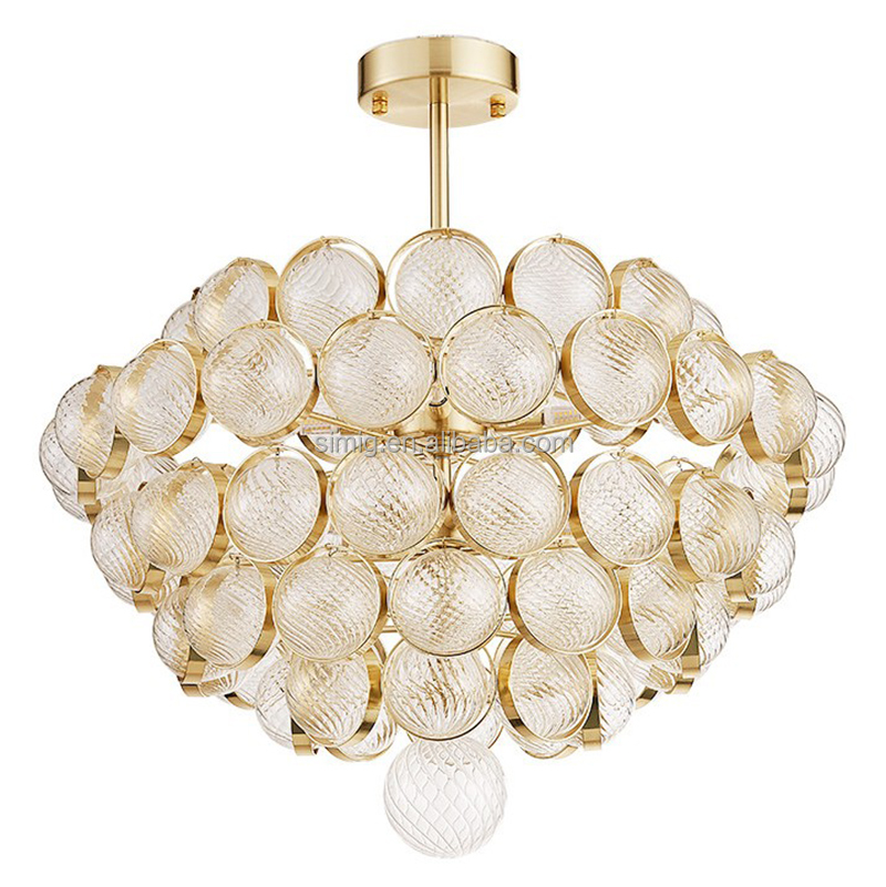 modern postmodern art atmospheric glass led E14 chandelier lighting in dubai