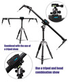 New released portable stabilizer camera slider 120cm for TV filming video with pan head