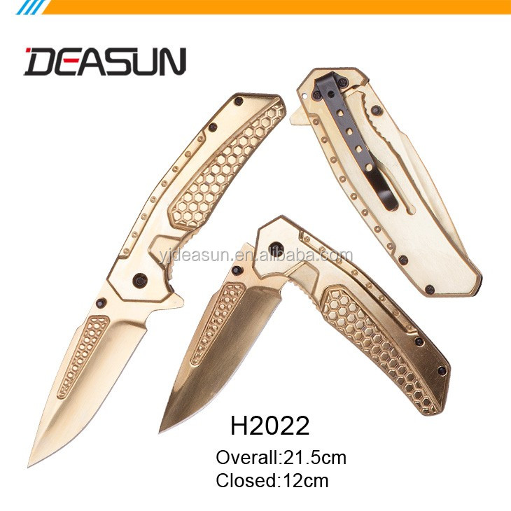 OEM wholesale high quality camo pattern folding knife