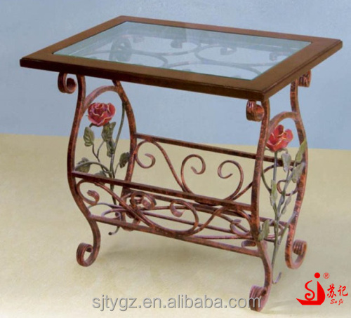 Rose decorative small iron table for home usage