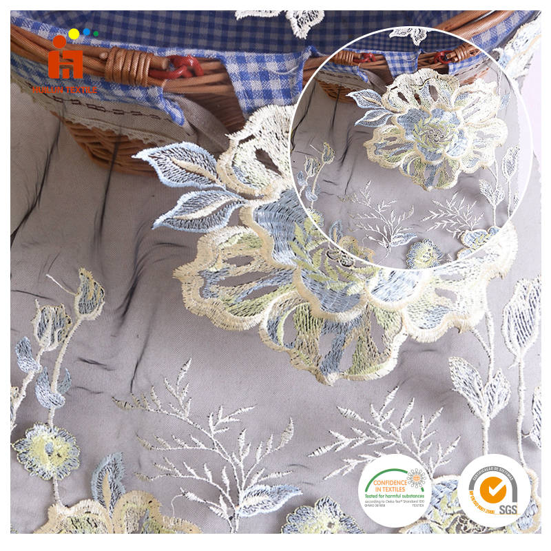 wholesale flower yarn dyed embroidery expensive lace fabric for garment