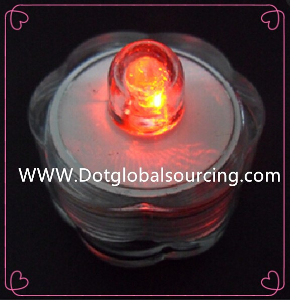 High quality multi-color candle shape waterproof floating led tea lights