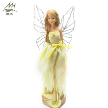 Competitive price flower resin wing figurine fairy ornaments