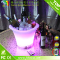 PE material waterproof rechargeable led ice bucket /plastic buckets for sale