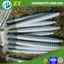 Japan standard ground screw pile/spiral anchor helical screw piles