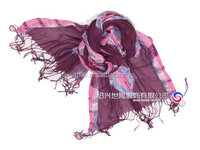 flower printed polyester Voile fashion scarf