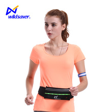 Stylish and Sporty Waterproof Waist Bag with warning LED light