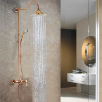 Rose Golden Finished Fancy Hot and Cold Shower Mixer SM007B