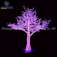 Outdoor colorful modern LED acrylic painting abstract Christmas tree light