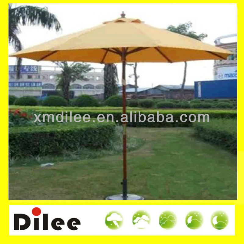 garden water proof solar outdoor patio wood umbrella