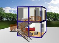 Tiny style Modern Prefabricated container House luxury villa design,hotel,office