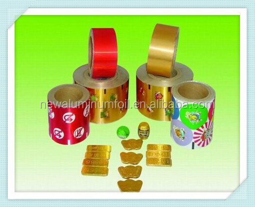 supply different of colors aluminum foil hot stamping foil paper for chocolate food packaging