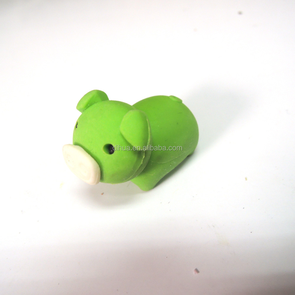 Hot Sale Wholesale School Stationery &  Animal Shaped TPR 3D Eraser for Kids gifts