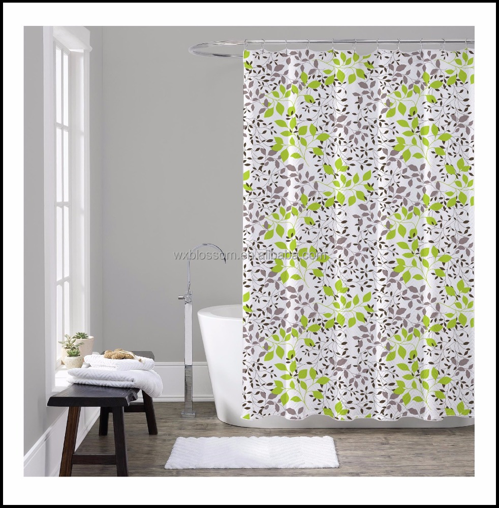 Hot sale Waterproof Printed home goods shower curtains/shwer curtain liner