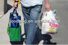 buy recycled plastic bottle hdpe t-shirt tote bags