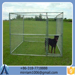 Baochuan powder coating galvanized classical dog kennel/pet house/dog cage/run/carrier